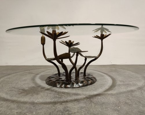 Brass Lotus coffee table, 1970s
