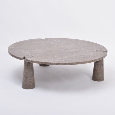 Large Circular 'Eros' Marble Coffee Table by Angelo Mangiarotti for Skipper