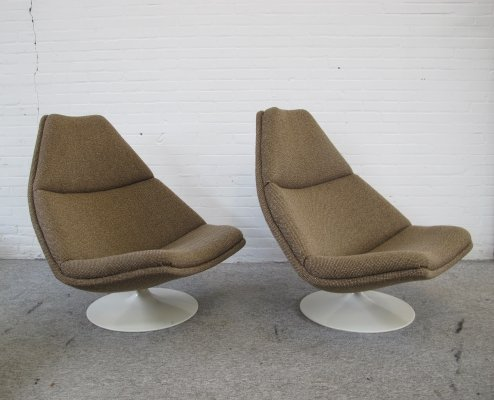 Pair of F510 Lounge Chairs by Geoffrey Harcourt for Artifort, 1970s