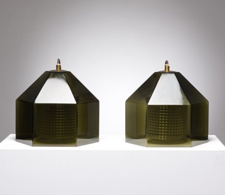Pair of Carl Fagerlund pendant lamps, 1960s