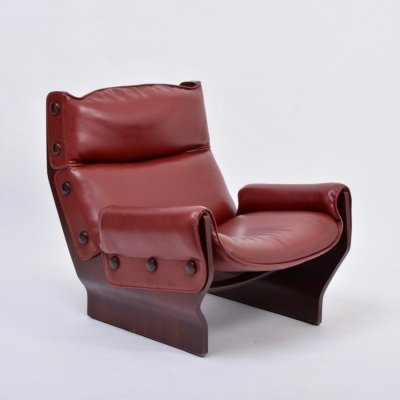 Mid-Century Modern P110 'Canada' lounge chair by Osvaldo Borsani for Tecno