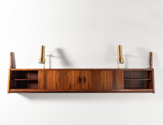 Danish Modern floating wall cabinet in rosewood, 1960's