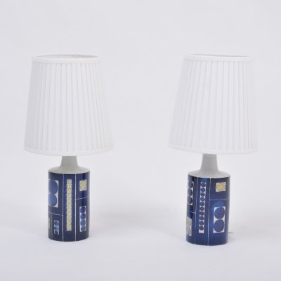 Pair of Royal 9 Tenera Table Lamps by Inge-Lise Kofoed for Fog & Mørup, 1967