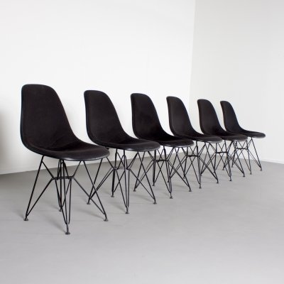 Set of 6 DSR dining chairs by Charles & Ray Eames for Herman Miller, 1960s