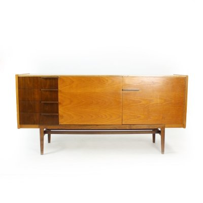Long Midcentury Sideboard In Oak by František Mezulánik, Czechoslovakia 1960s