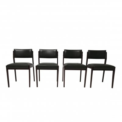 Set of 4 Palissander dining chairs by Pieter de Bruyne for V-Form, Belgium 1960s