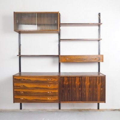 PS Sytem Rosewood wall unit by Randers Mobelfabrik, 1960's