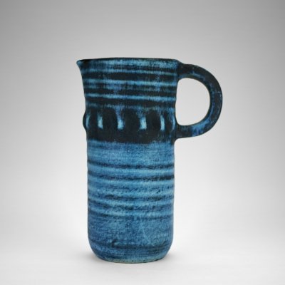 Accolay Bleu Gitane pitcher, 1960s