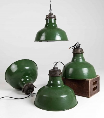 Large Wardle Enamel Lamps, 1930s