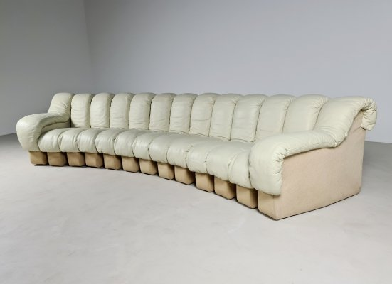 De Sede DS-600 13 Piece sectional sofa, 1970s