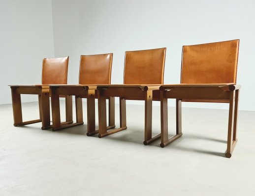 Set of 4 Monk chairs by Afra & Tobia Scarpa for Molteni, 1970s