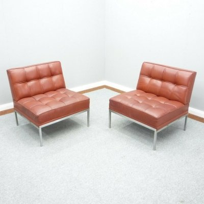 Pair of Leather Lounge Chairs by Johannes Spalt for Wittmann, 1960s