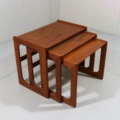 Teak nesting tables by Salin Mobler, Denmark 1960's