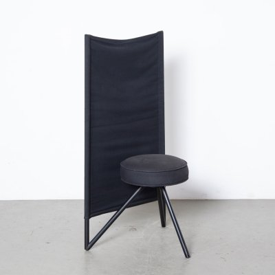 Miss Wirt chair in black by Philippe Starck for Disform, 1980s