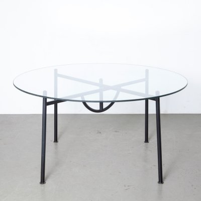 Philippe Starck Nina Freed Table with round glass top, 1980s