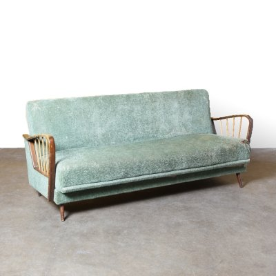 Vintage Sofa Bed in Green