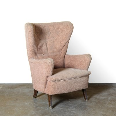 Vintage armchair curly pattern, 1950s