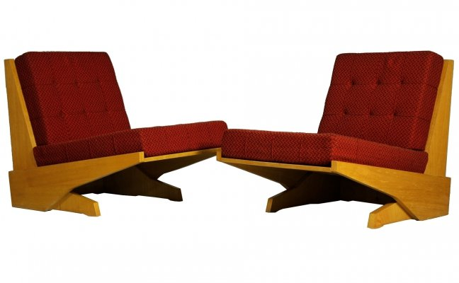 Pair of Brutalist Armchairs, 1970s