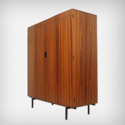 Dutch Teak & Metal KU14 Wardrobe by Cees Braakman for UMS Pastoe, 1950s