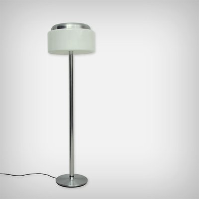 German Chrome & Perpex Floor Lamp, 1970s