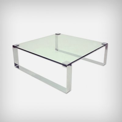 German Chrome & Glass Coffee Table Model Klassik 1022 by Peter Draenert, 1960s