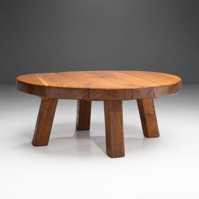 Mid-Century Modern Solid Oak Coffee Table, Scandinavia 1960s