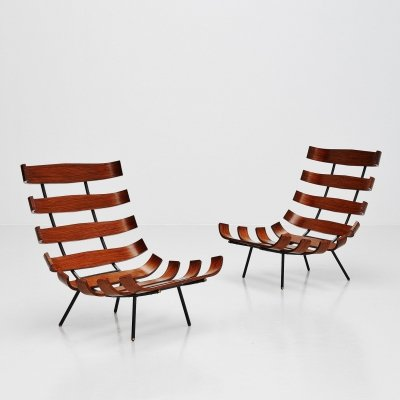 Eisler & Hauner Costela lounge chairs by Forma, Italy 1960