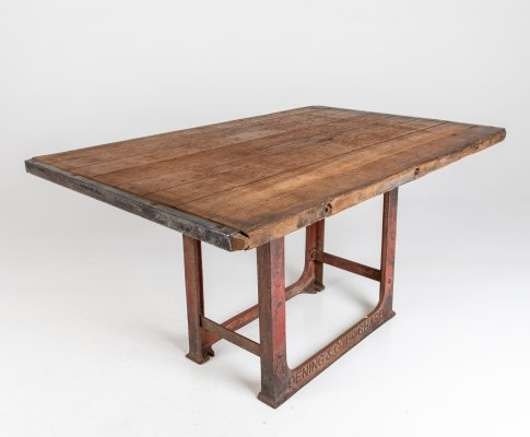 Industrial Brick Kiln Shelf Table, 1960s