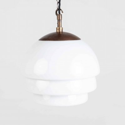 Stepped Opaline Pendant, 1930s