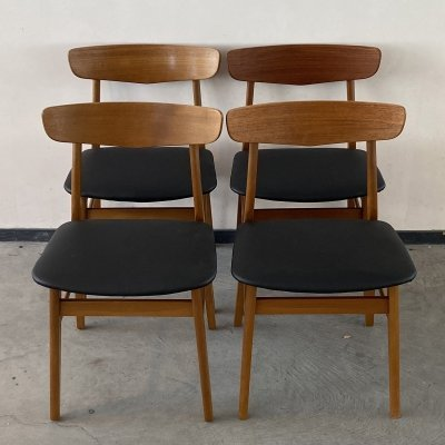 Set of 4 teak dining chairs by Farstrup Møbler Denmark, 1960s