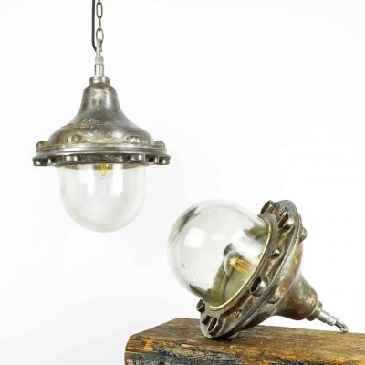 FLP GEC Pendant Lights, 1940s