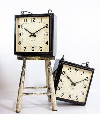 Square Gents of Leicester Clocks, 1930s