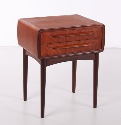 Danish teak nightstand by Johannes Andersen for CFC Silkeborg, 1960s