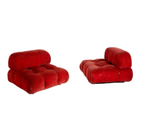 Pair of 'Camaleonda' Armchairs by Mario Bellini for B&B Italia, 1970s