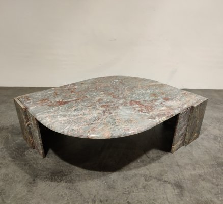 Vintage marble coffee table, 1970s