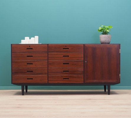 Rosewood sideboard with drawers by Kai Winding, Danish design 1970