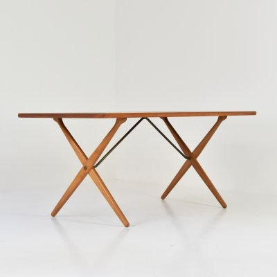 Early cross-legged dining table by Hans Wegner for Andreas Tuck, Denmark 1950s