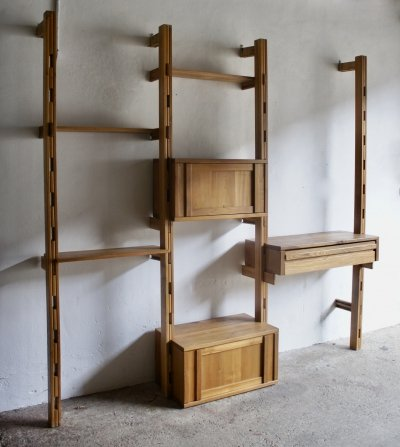 French Midcentury Shelving System, 1970s