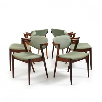 Set of six 1960s Kai Kristiansen Z-Chairs / Model No.42
