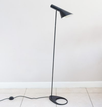 Original First Production Aj Visor Floor Lamp by Arne Jacobsen for Louis Poulsen