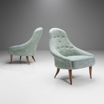'Little Eva' Easy Chairs by Kerstin Hörlin-Holmquist for Nordiska Kompaniet, Sweden 1950s