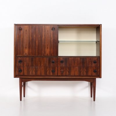 Rosewood lighted bar/buffet, 1960's