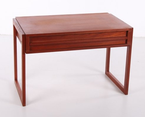 Vintage Teak Danish sewing kit side table, 1960s