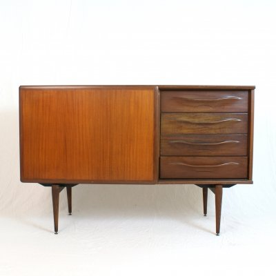 Italian 60's sideboard with sliding door & drawers