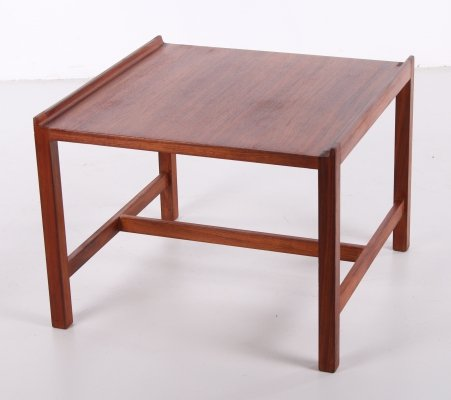 Danish vintage coffee table with raised edge, 1960s