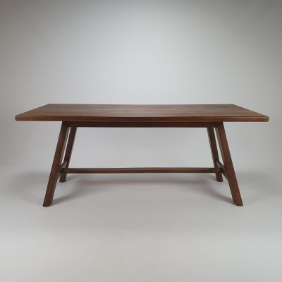Mid Century French Modernist Oak Dining table, 1950s