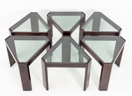 Set of 6 Porada Arredi nesting tables, 1970s
