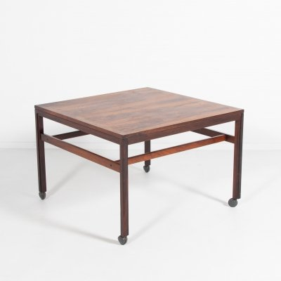 Danish rosewood coffee table by Haslev, 1970s