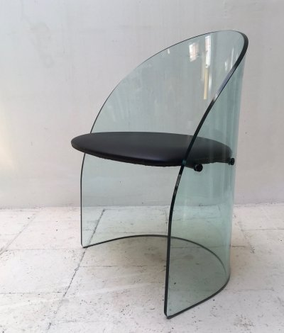 Sculptural glass chair by Fiam, 1980's
