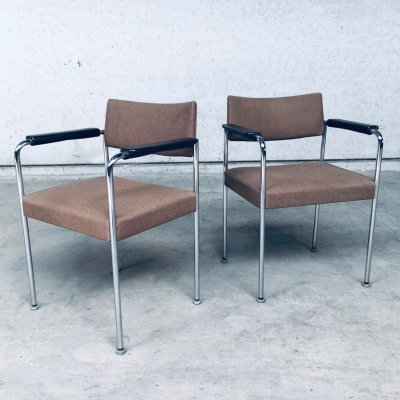 1970's Swiss Design Office Chair set by Martin Stol